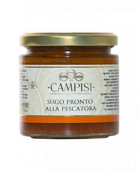 Sugo pronto alla Pescatora con pomodoro ciliegino - vaso vetro 220 g - Campisi