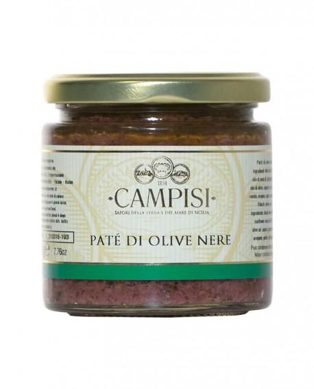 Patè di Olive Nere - vaso vetro 220 g - Campisi