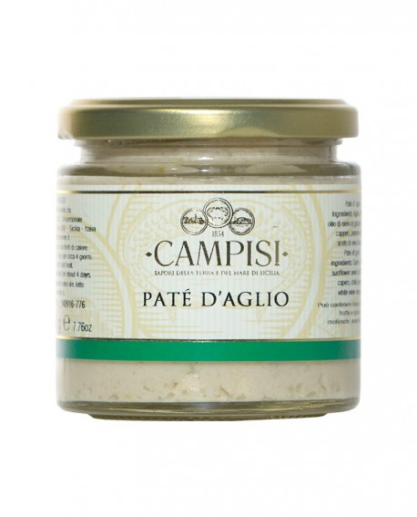 Patè D'Aglio - vaso vetro 220 g - Campisi