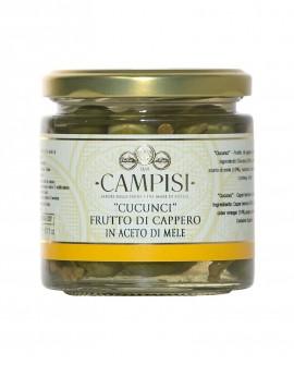 Cucunci - Frutti di Cappero in Aceto di Mele - vaso vetro 230 g - Campisi