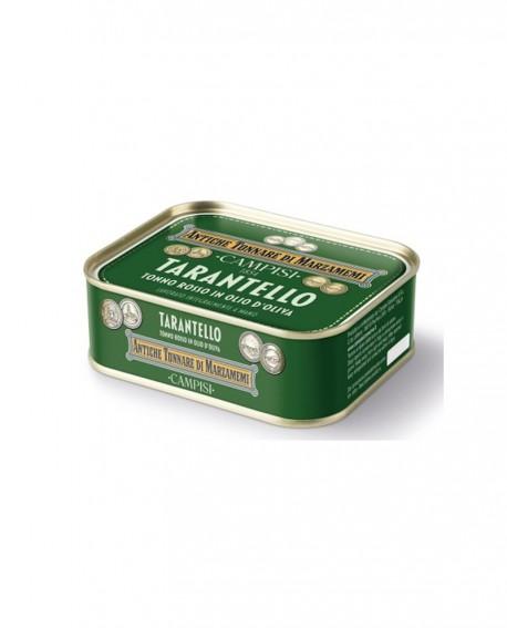 """Tarantello di tonno rosso in latta """"Antiche tonnare di Marzamemi"""" 340 g - Campisi"""