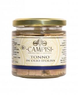 Tonno in Olio di Oliva - vaso vetro 220 g - Campisi