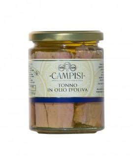 Tonno in Olio di Oliva - vaso vetro 300 g - Campisi