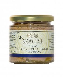 Tonno con Pomodoro ciliegino in Olio di Oliva - vaso vetro 220 g - Campisi