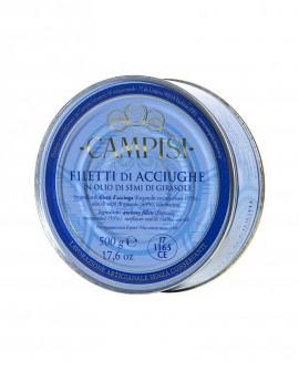 Filetti di Acciughe sott'olio latta 500 g - Campisi