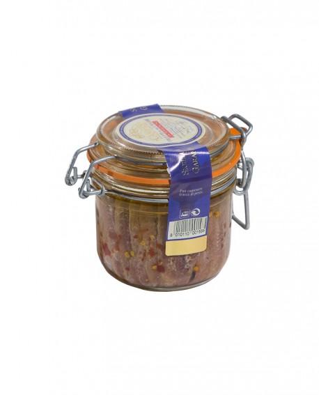 Filetti di Acciughe Extra al Peperoncino in Olio di Oliva vaso ermetico 200g - Campisi