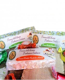 Torrone morbido mandorla e arancia gr 150 - Antico Torronificio Nisseno