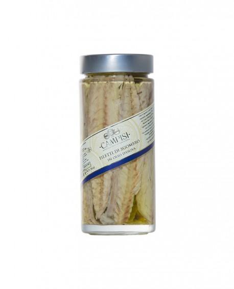Filetti di Sgombro in Olio di Oliva - vaso vetro 600 g - Campisi