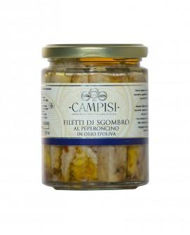 Filetti di Sgombro al Peperoncino in Olio di Oliva - vaso vetro 300 g - Campisi