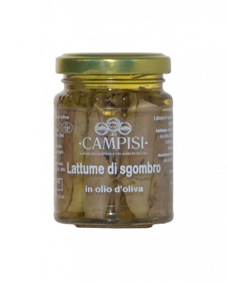 Lattume di Sgombro in Olio di Oliva - vaso vetro 90 g - Campisi