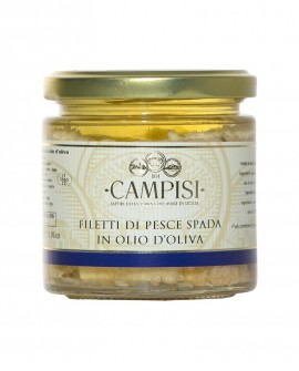 Filetti di Pesce Spada in Olio di Oliva - vaso vetro 220 g - Campisi