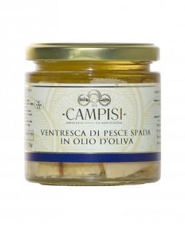 Ventresca di Pesce Spada in Olio di Oliva - vaso vetro 220 g - Campisi