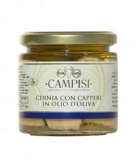 Cernia con Capperi in Olio di Oliva - vaso vetro 220 g - Campisi