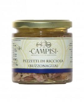 Buzzonaglia Pezzetti di Ricciola in Olio di Oliva - vaso vetro 220 g - Campisi