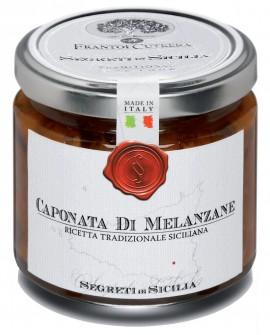 Caponata di Melanzane - Ricetta Siciliana Originale - vasetto di vetro 212 - 190 g - Frantoi Cutrera Segreti di Sicilia