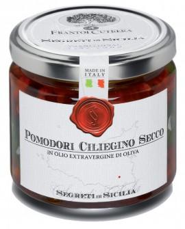 Pomodori Ciliegino Secco - vasetto di vetro 212 - 195 g - Frantoi Cutrera Segreti di Sicilia