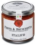 Pesto & Bruschetta Italico con basilico e pomodoro - vasetto di vetro 212 - 190 g - Frantoi Cutrera Segreti di Sicilia
