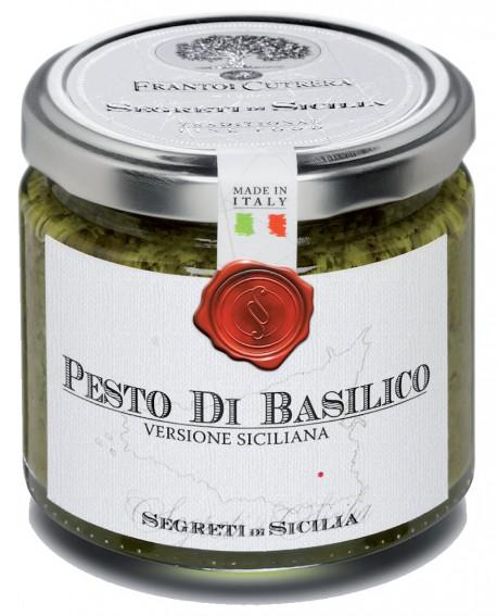 Pesto di Basilico versione siciliana - vasetto di vetro 212 - 190 g - Frantoi Cutrera Segreti di Sicilia
