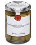 Olive Verdi schiacciate in Salamoia Nocellara Etnea - vasetto di vetro 314 - 290 g - Frantoi Cutrera Segreti di Sicilia