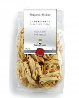 TAGLIATELLE pasta di grano duro Siciliano BIO - Sacchetto 500 g - Frantoi Cutrera Segreti di Sicilia