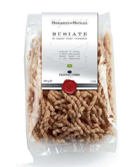BUSIATE pasta di grano duro Tumminia Siciliano BIO Integrale - Sacchetto 500 g - Frantoi Cutrera Segreti di Sicilia