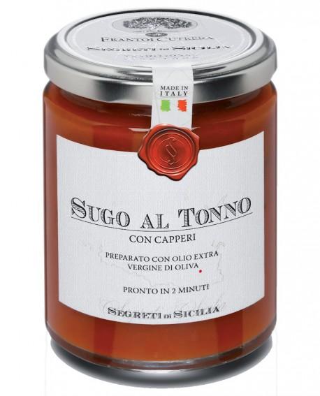 Sugo al Tonno e Capperi - vasetto di vetro 314 - 290 g - Frantoi Cutrera Segreti di Sicilia