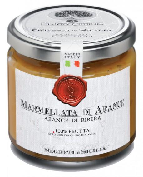 Marmellata di Arance Gialla di Ribera - vasetto di vetro 212 - 225 g - Frantoi Cutrera Segreti di Sicilia