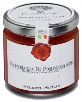 Marmellata di Pompelmo Rosa siciliano - vasetto di vetro 212 - 225 g - Frantoi Cutrera Segreti di Sicilia
