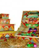 Scatola Folk in legno con torrone misto gr 800 - Antico Torronificio Nisseno