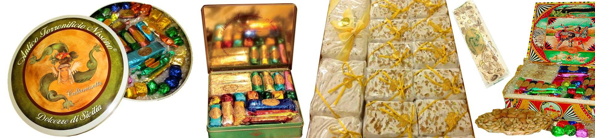 torrone alle mandorle, cioccolatini Antico Torronificio Nisseno vendita online